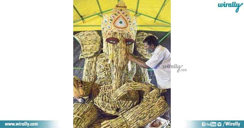 Sugarcane Ganesha in Visakhapatnam