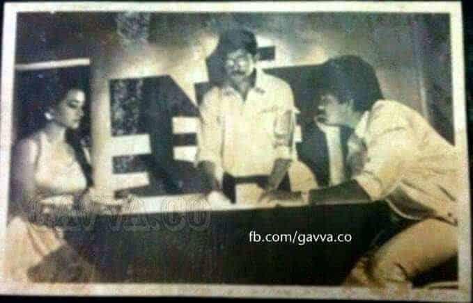 Rgv Explaining Shot To Akkineni Nagarjuna And Amala On Siva Movie Sets
