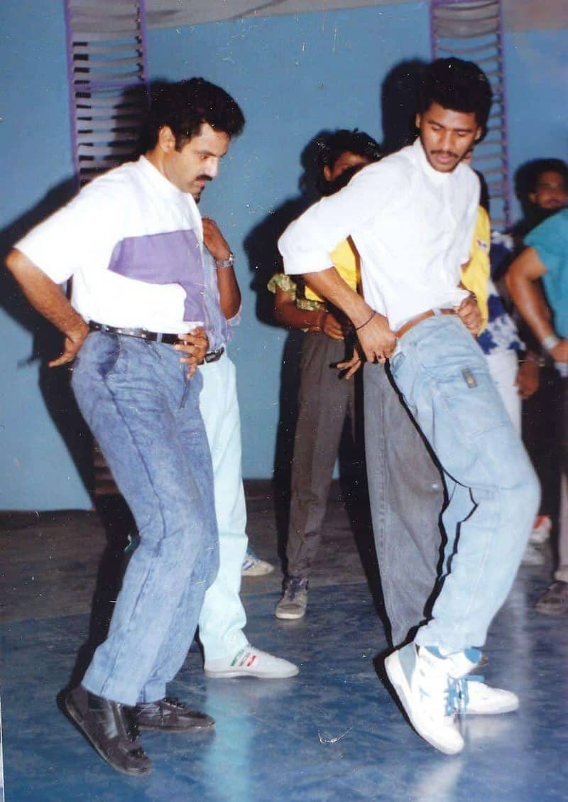 Balakrishna And Prabhu Deva Rare Working Still During Song Shoot