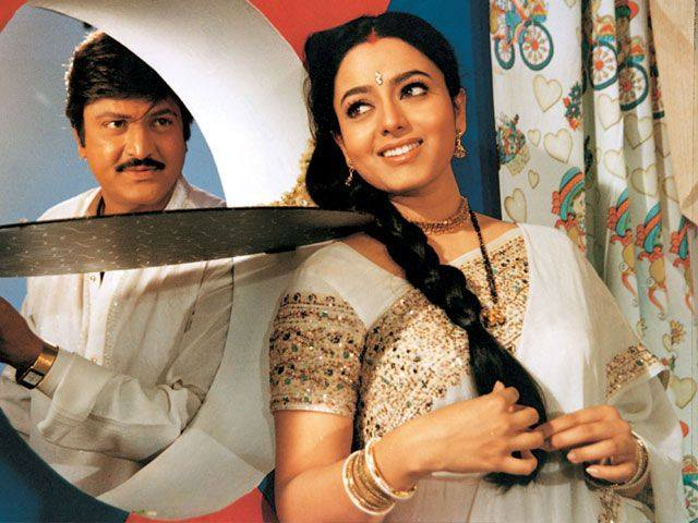 Mohan Babu And Soundarya Rare Still From Postman Movie Sets