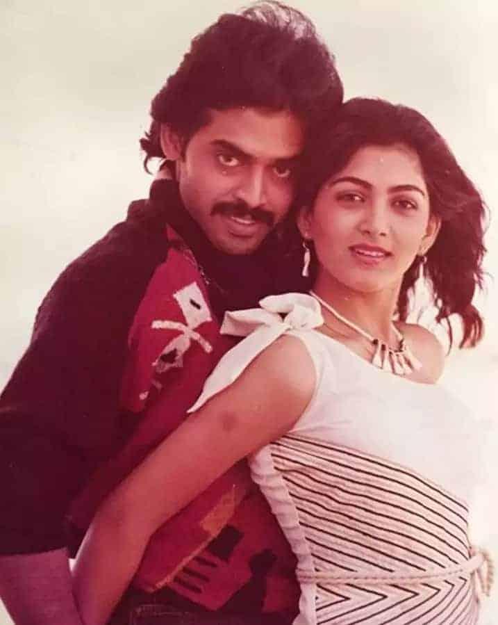 Venky And Khusboo Rare Still From Kaliyuga Pandavaulu