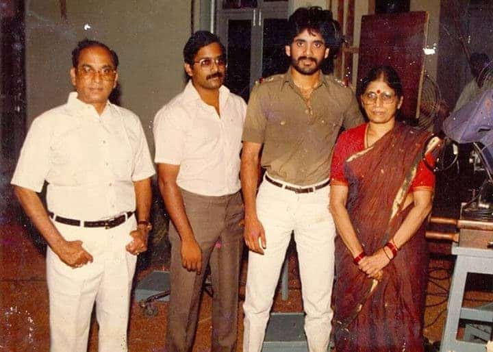 Anr And Nagarjuna Rare Pic Fromnag Earlier Days In Tfi