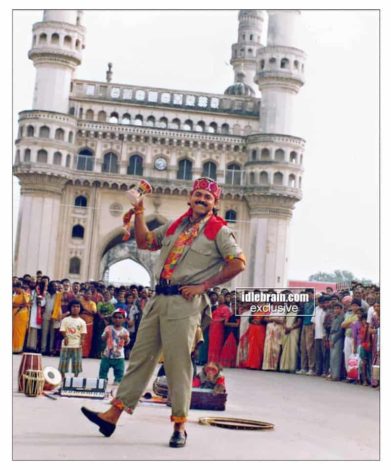 Venkatesh At Iconic Charminar For Kottandayya Babu Song Shoot In 1995