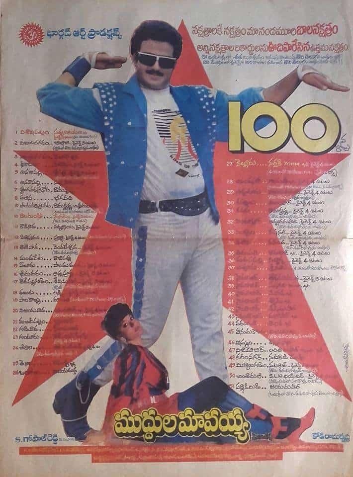 Muddula Mavayya Movie 175 Days Paper Cutting
