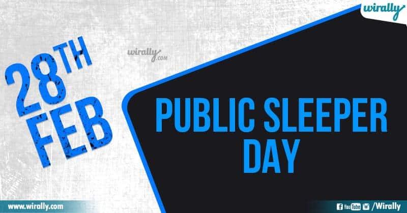 Public Sleeper Day