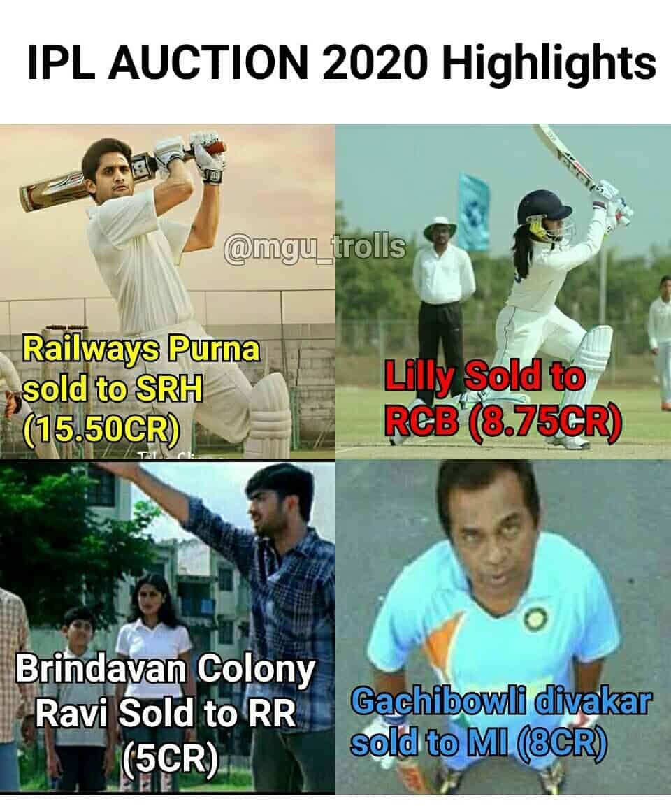 10. Ipl Auction 2020 Memes