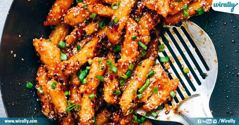 Honey Chili potatoes