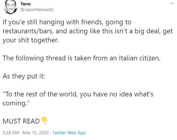 1. Italian Twitter Thread