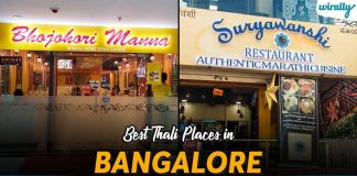 Best Thali Places In Bangalore