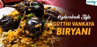 Hyderabadi Style Gutti Vankaya Biryani