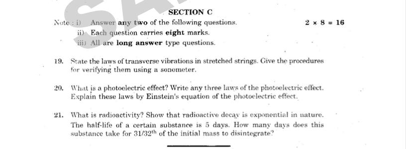 Physics paper c