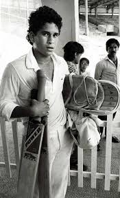 10. Young Sachin Getting Ready To Bat