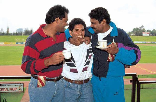 12. Mohammed Azharuddin, Sachin & Kapil Dev's Unseen Pic