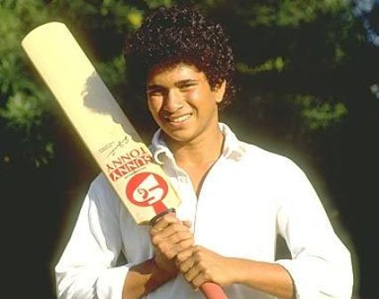 12. Sachin In His Earlier Days