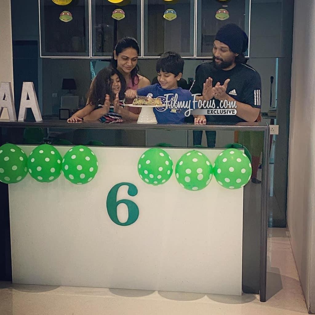 14. Allu Arjun's Son Ayan Quarantine Birthday Celebrations