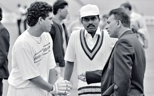 14. Young Sachin Tendulkar With Sunil Gavaskar