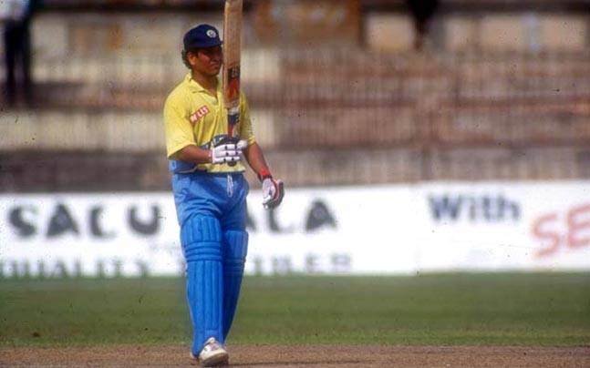 22. Rare Still Of Sachin Tendulkar After His First Odi Ton