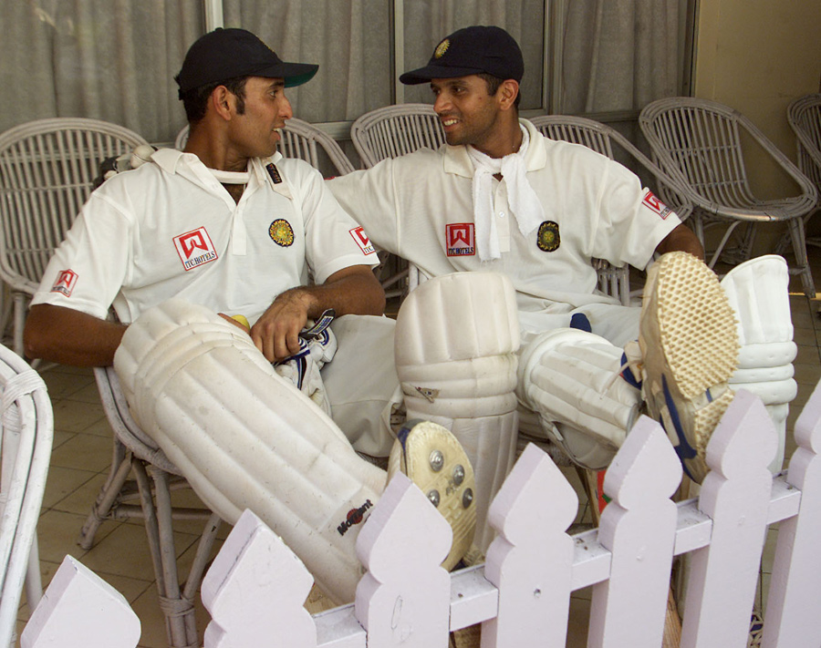 23. Rare Pic Of Legendary Batsmen Vvs Laxman & Rahul Dravid
