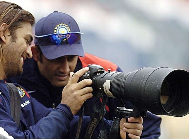 26. Ms Dhoni's Rare Pic With Anil Kumble