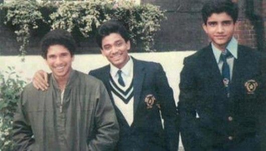 29. Rare Pic Of Sachin With Sourav Ganguly
