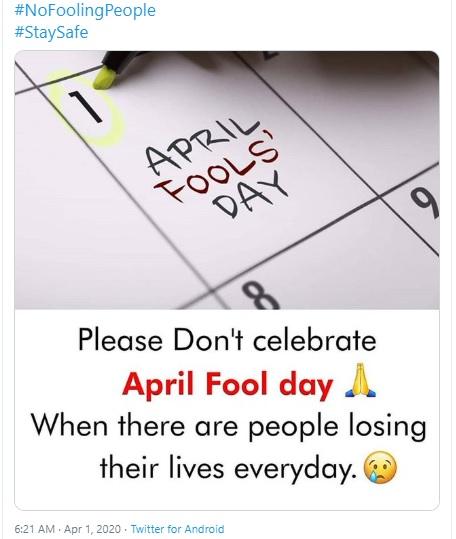 3. No April Fool's Day