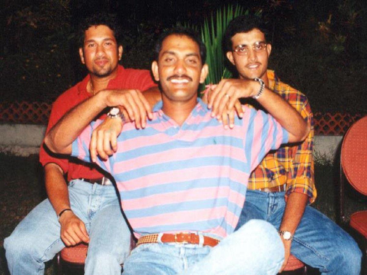 30. Rare Pic Of Sachin, Azharuddin & Sourav Ganguly