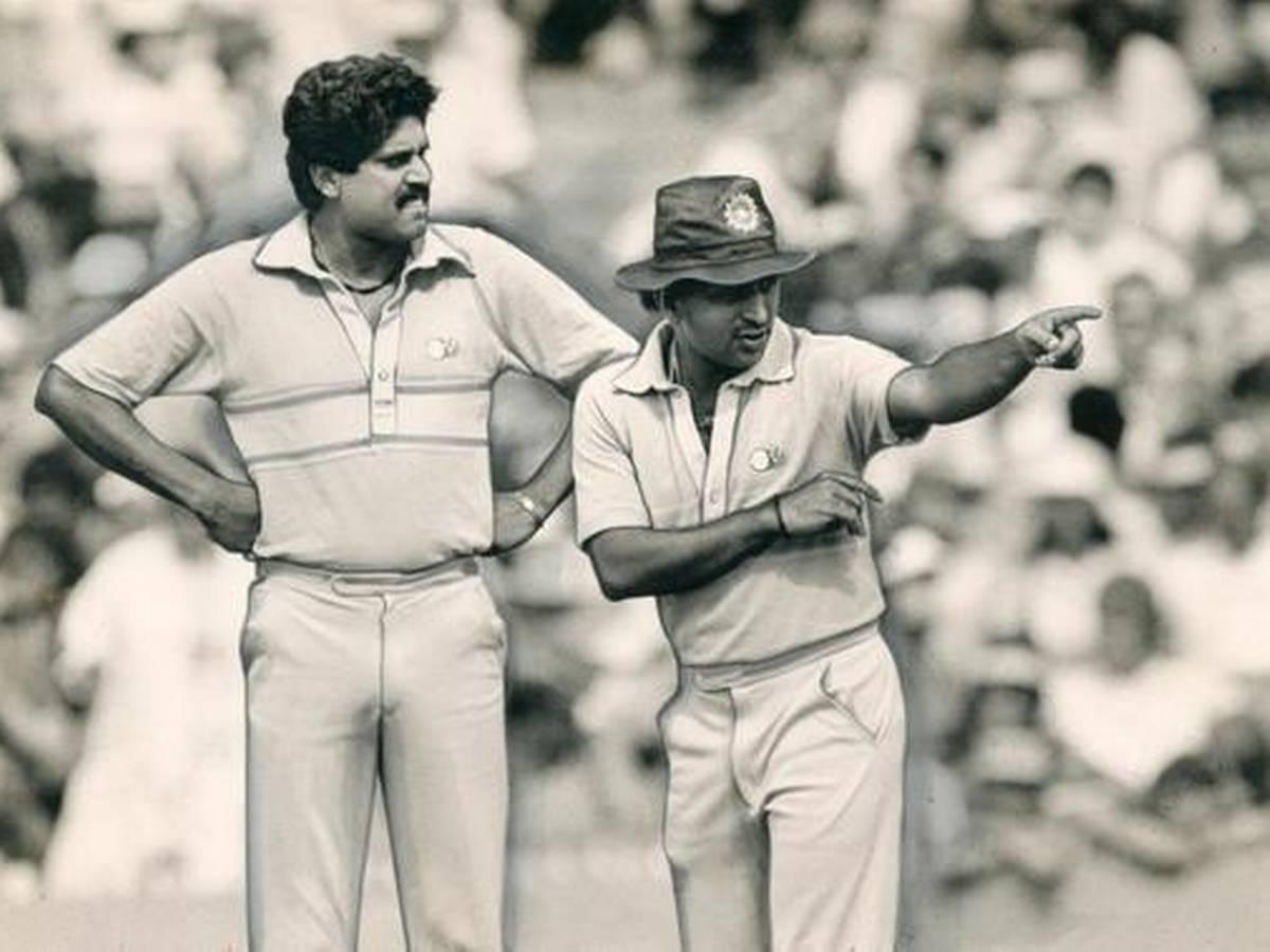 37. Kapil Dev And Sunil Gavaskar's Rare Pic