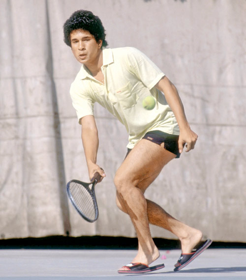 38. Rare Pic Of Sachin Playing Badminton