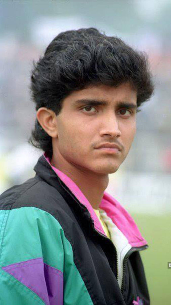4. Bengal Tiger Sourav Ganguly's Young Age Pic