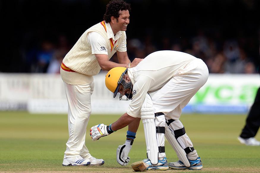 40. Rare Pic Of Sachin With Yuvrja Singh At Lords