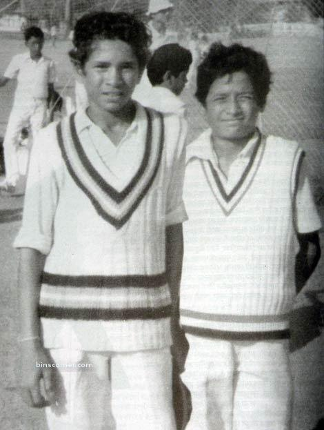 6. Sachin Tedulkar With His Schoolmate