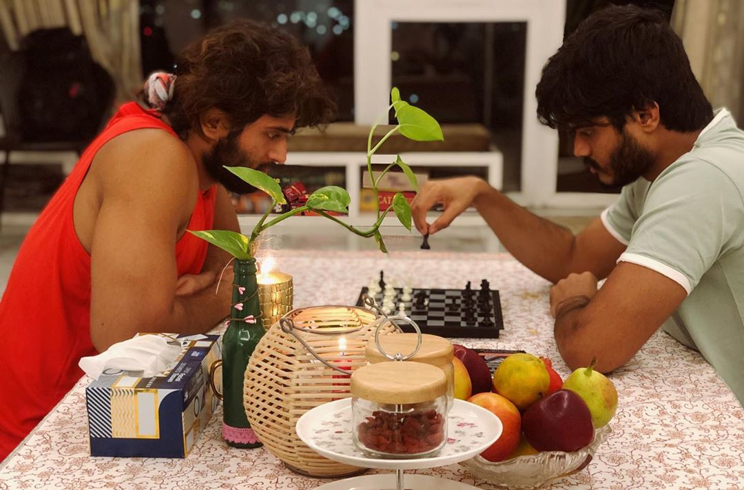 8. Vijay And Anand Deverakonda Playing Chess In Their Home