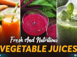 Fresh And Nutritious Vegetable Juices