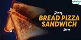 Yummy Bread Pizza Sandwich Recipe