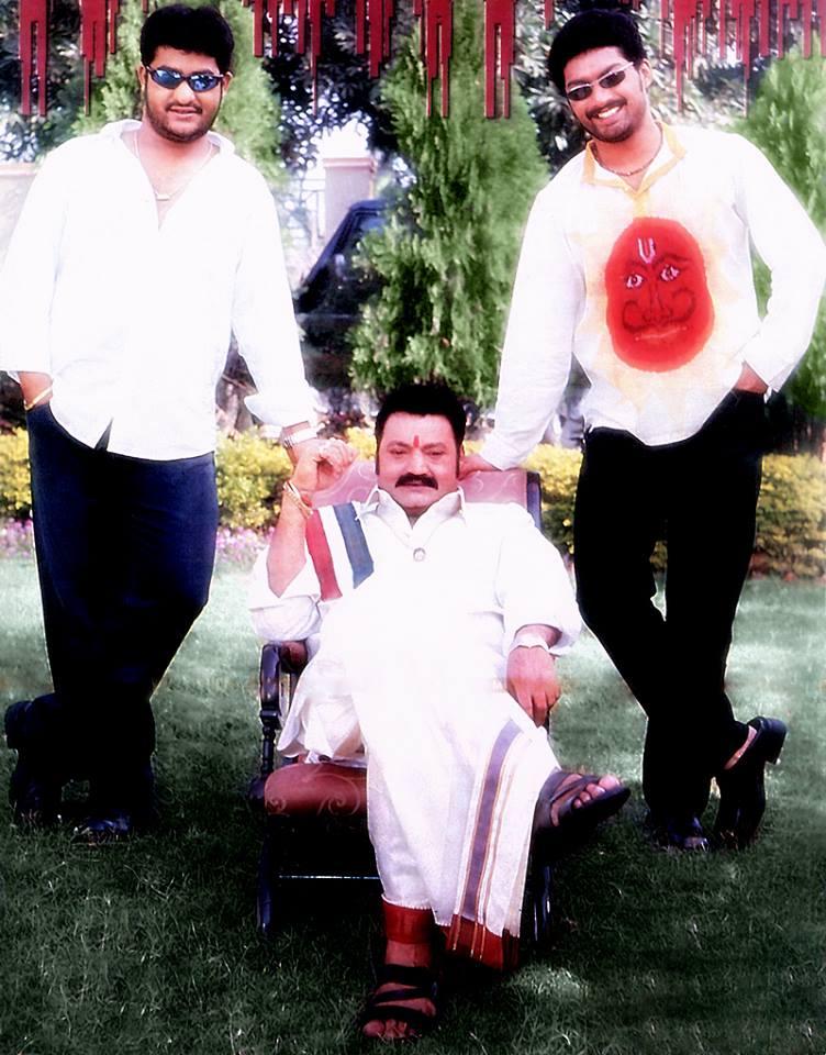 18. Jr. Ntr And Kalyan Ram With Father Hari Krishna