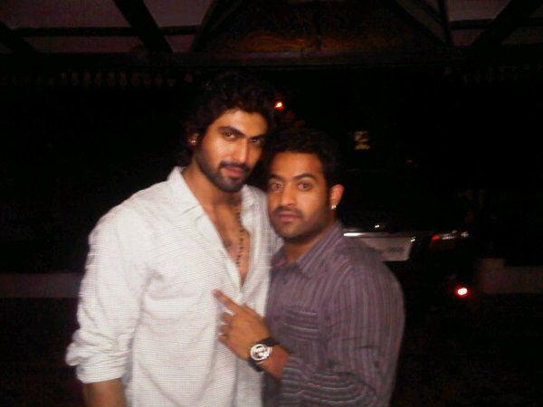 35. Jr. Ntr Rare Pic With Rana