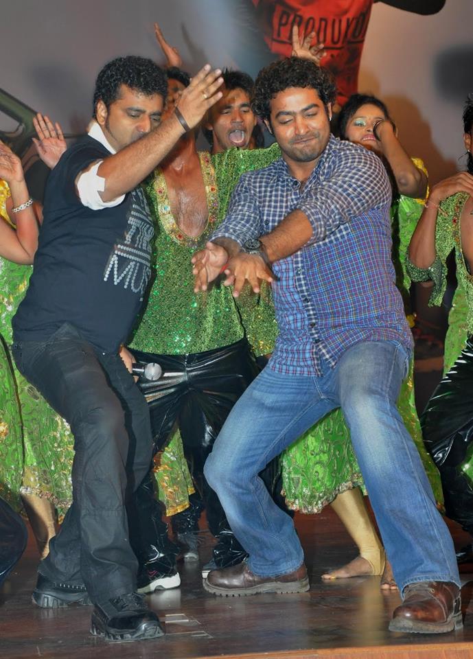 43. Jr. Ntr Dancing With Music Director Devi Sri Prasad