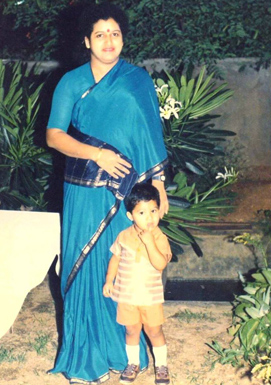 5. Jr. Ntr Rare With His Mother Childhood Pic
