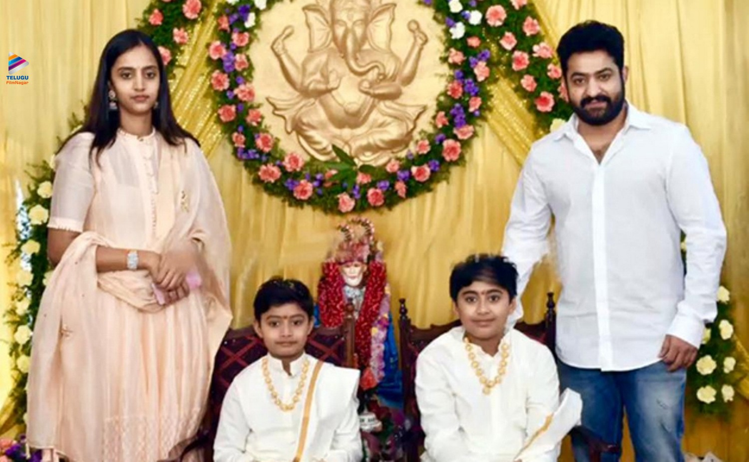 53. Jr Ntr Rare Pic His Wife At Family Function