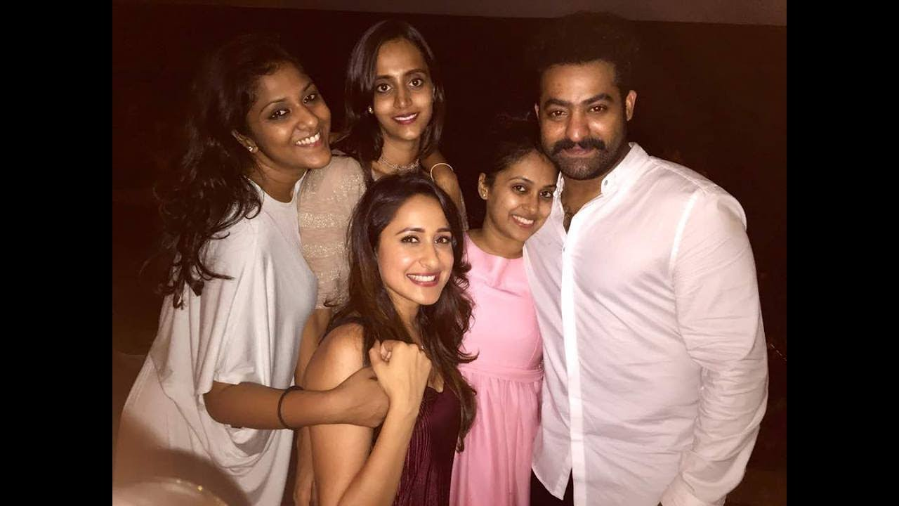 55. Jr Ntr With Wife Lakshmi Pranathi And Others At Private Party