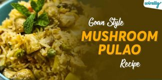 Goan Style Mushroom Pulao Recipe