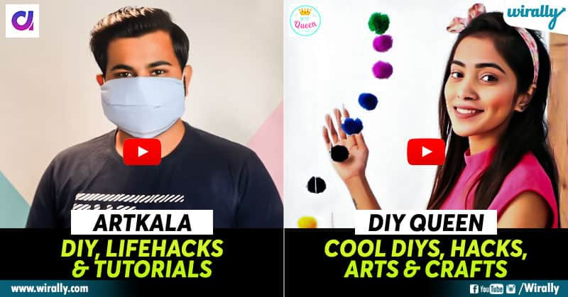 8 Indian Diy Youtube Channels For All Your Decor Lifehack Beauty Fashion Needs In Daily Life Wirally