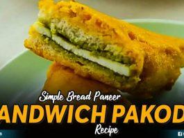 Simple Bread Paneer Sandwich Pakoda Recipe