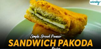 Simple Bread Paneer Sandwich Pakoda Recipe