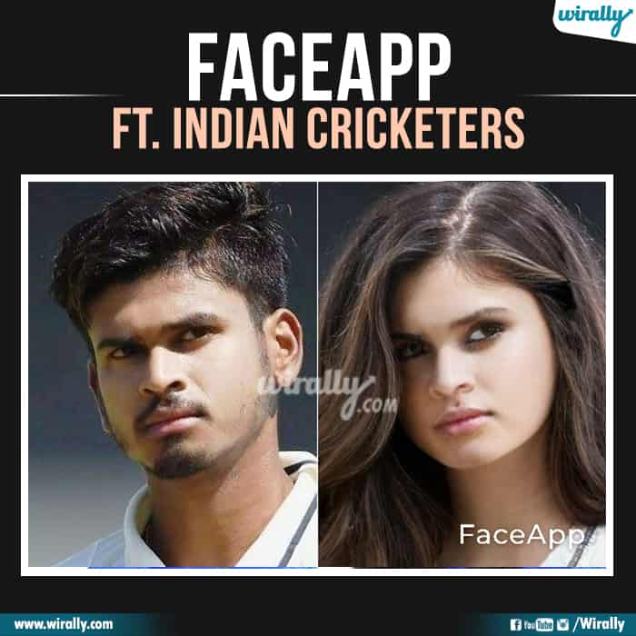 1 Indian Cricketers Faceapp