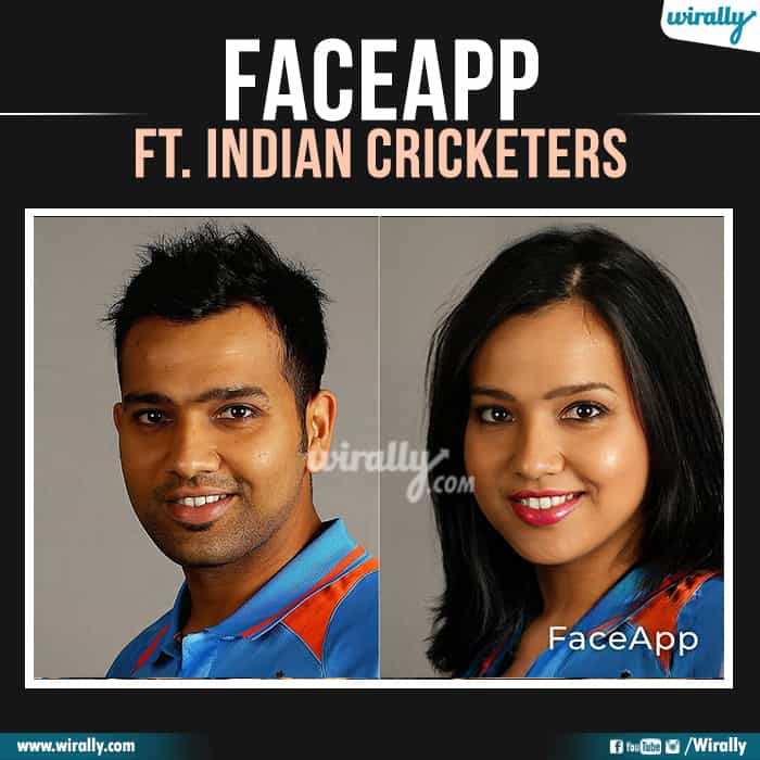 10 Indian Cricketers Faceapp