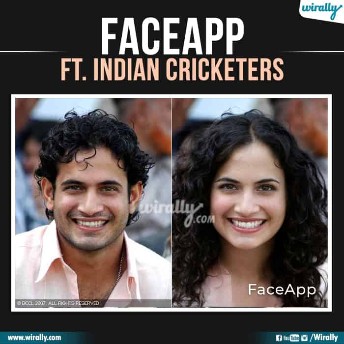 13 Indian Cricketers Faceapp