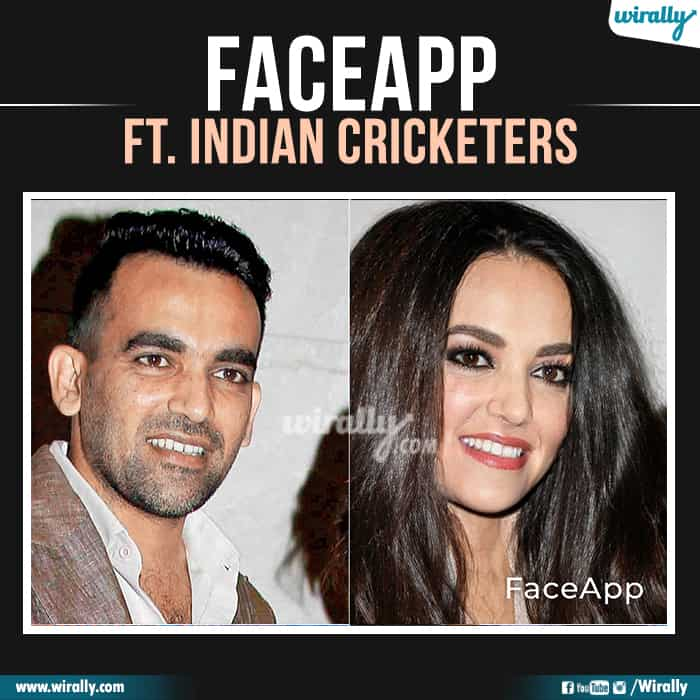 15 Indian Cricketers Faceapp