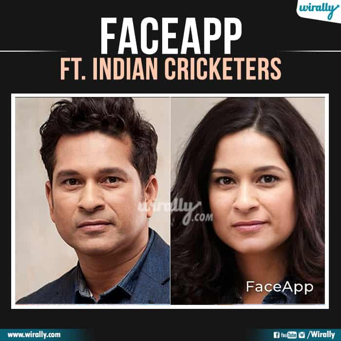 16 Indian Cricketers Faceapp