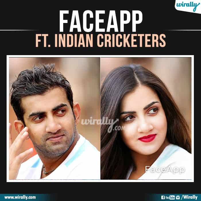 17 Indian Cricketers Faceapp